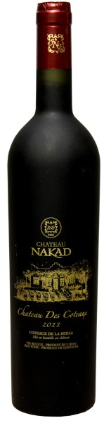 Chateau Nakad - Coteaux 2011 schwarze sat.Flasche Red 0,75l